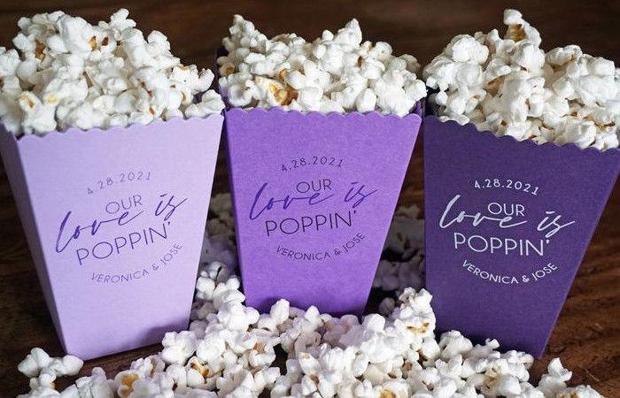 Bomboniera alternativa 9: semplici bomboniere Popcorn